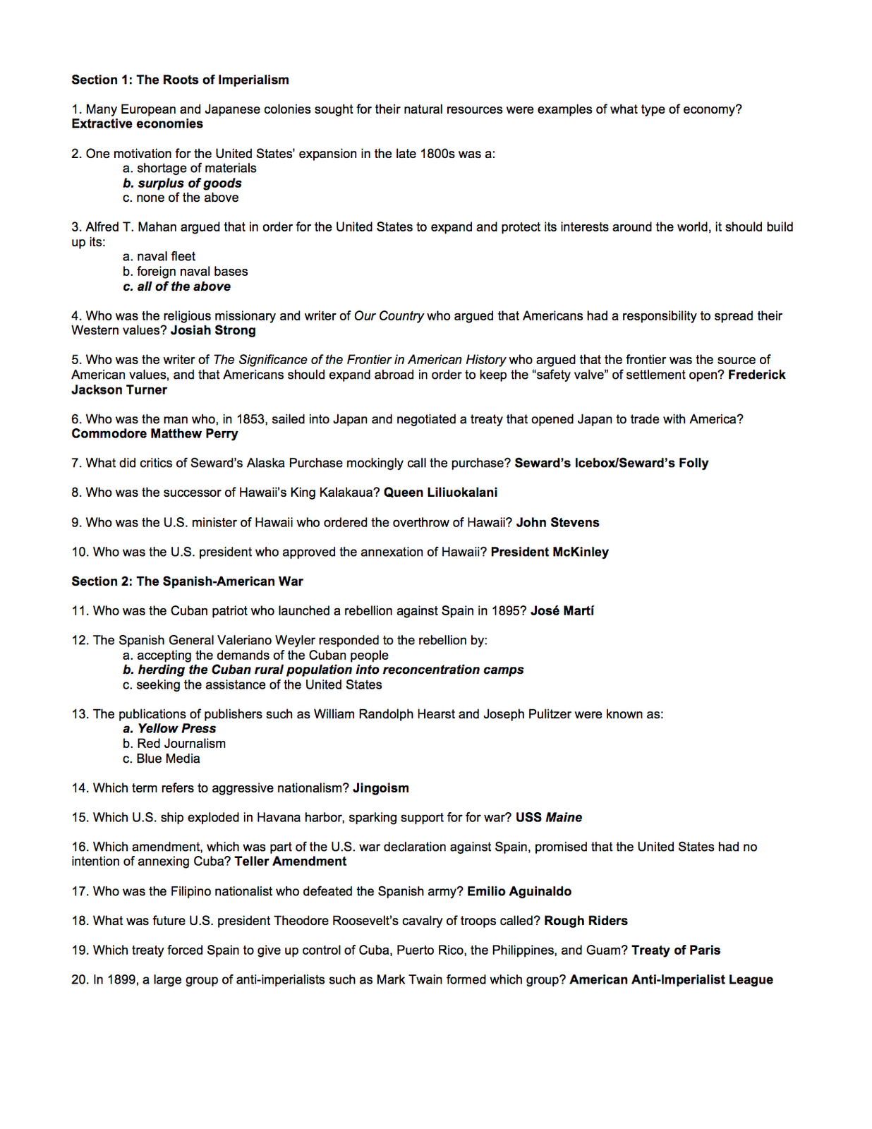 Summary of chapter 11 u s history, Research paper Sample
