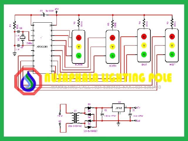 rangkaian lampu traffic light