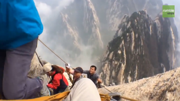 This Guy Hiked The World's Most Dangerous Trail. The Video He Captured Is Absolutely TERRIFYING!