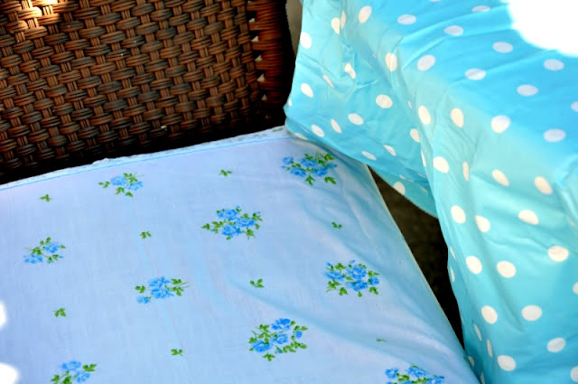 using vintage sheets as slip covers