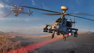 Primer disparo de un arma láser de alta energía desde un helicóptero