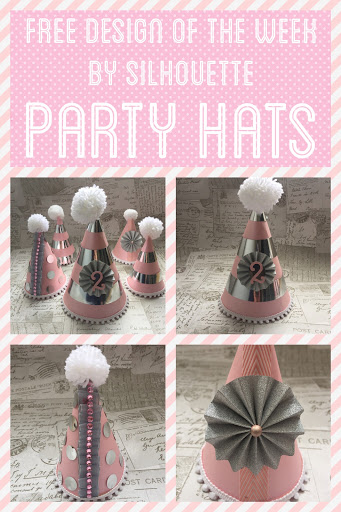Free Silhouette Design of the Week.  Party hats by Nadine Muir for UK Silhouette Blog