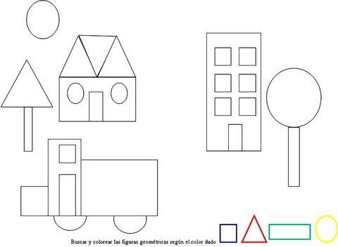 El Rincon De La Educadora Preescolar Dibujos De Figuras Geometricas
