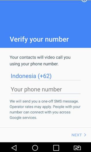 Verifikasi Nomor Telepon di Google Duo