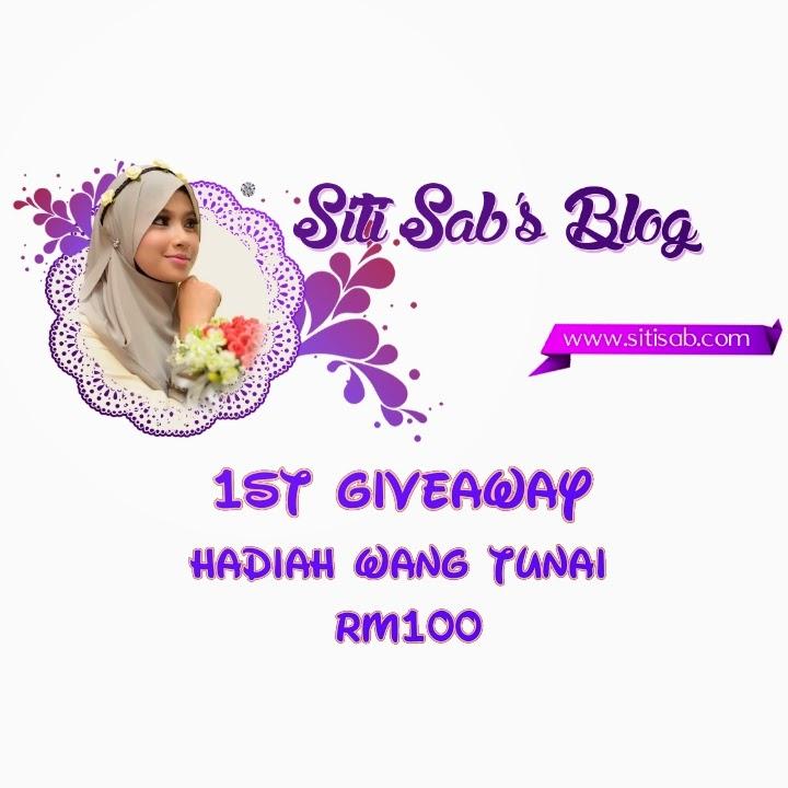 Giveaway pertama Siti Sab