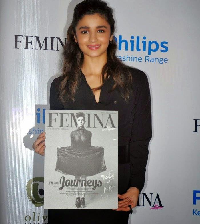 , Alia Bhatt hot Pics in Black Short Dress at Femina Magazine Launch