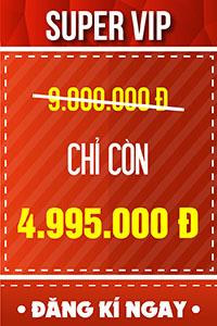 Vé SUPER VIP - 4.995.000 đ