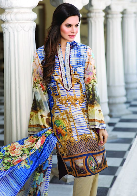 Superb Pareesa Lawn By ChenOne 2016 www.fashionwearstyle.com
