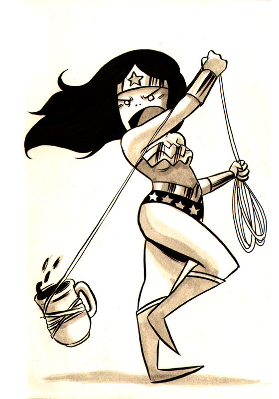 Coffee Wonder Woman by Emi Lenox