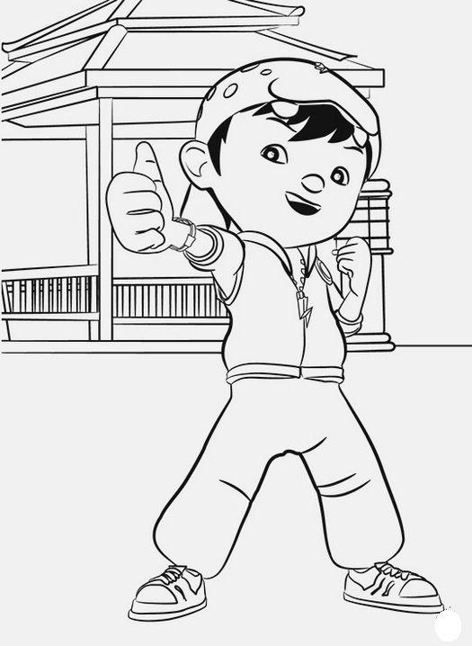 Tranh cho bé tô màu BoBoiBoy 6