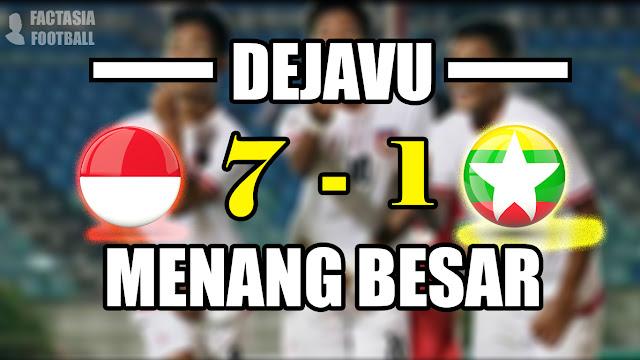 TERULANG!! INDONESIA Menang Besar atas Myanmar U18 7-1