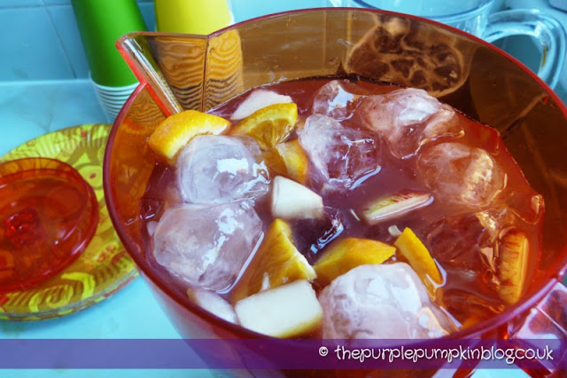 Virgin Sangria, non-alcoholic cocktail