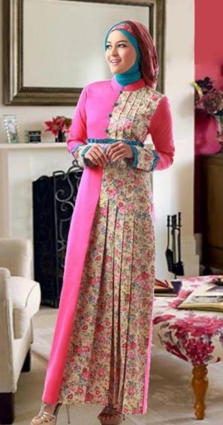 15 Model Baju Pesta Muslim Bahan Batik Elegan Mewah