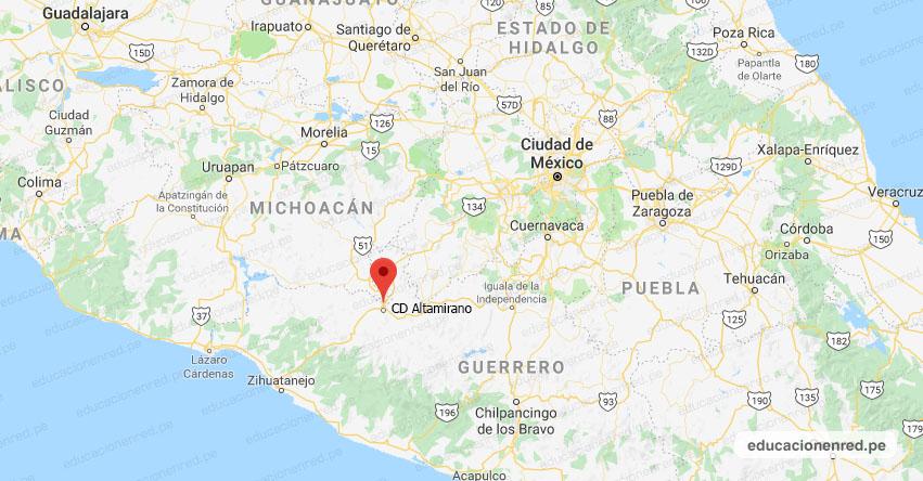 Temblor en México de Magnitud 4.0 (Hoy Jueves 24 Octubre 2019) Sismo - Epicentro - CD. Altamirano - Guerrero - GRO. - SSN - www.ssn.unam.mx