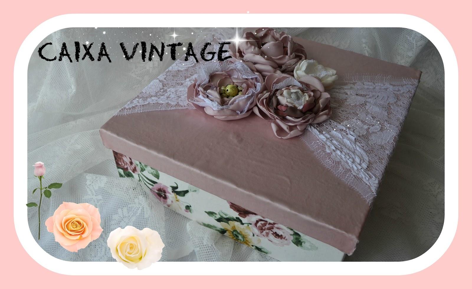 Aparador Barba Whal ~ I S Como fazer caixa vintage de mdf com tecidos e rendas