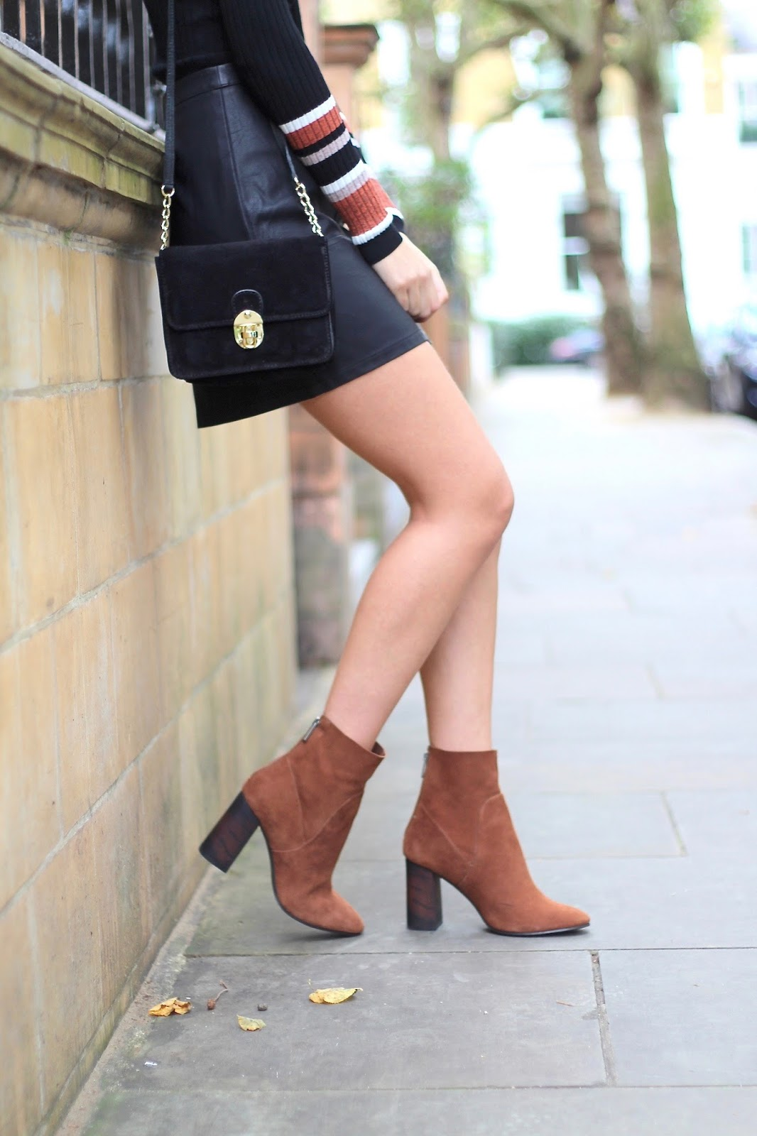 brown ankle boots next leather mini new look