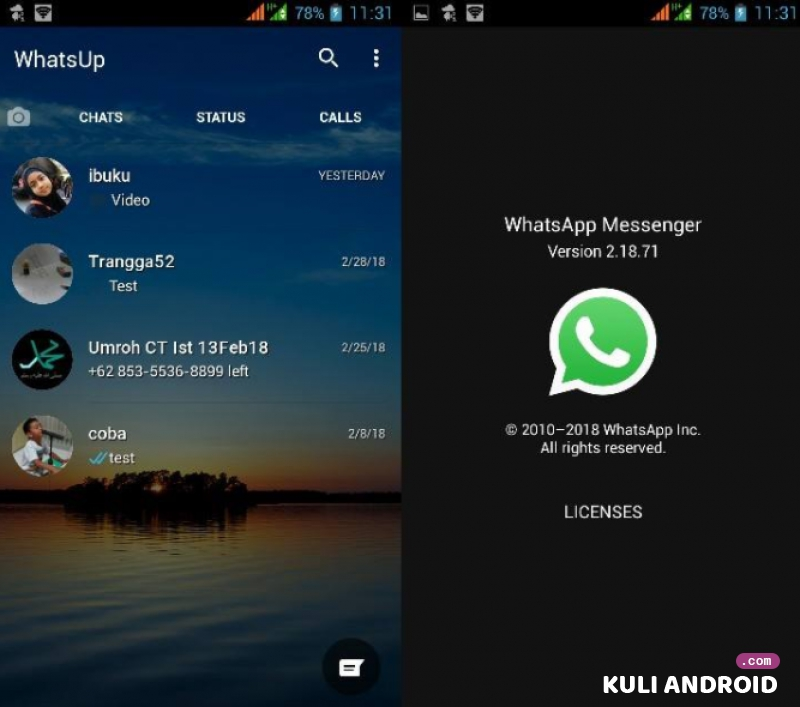 Download Whatsapp Mod Apk Transparan Versi Terbaru 2019