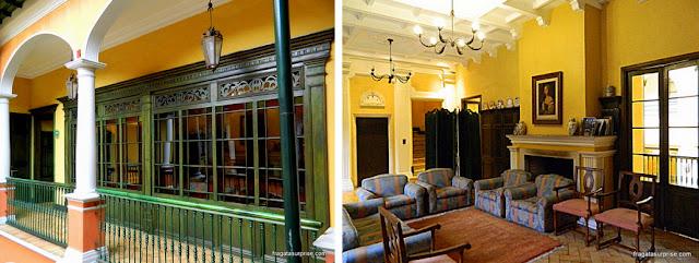 Sala de estar do Hotel de La Ópera, La Candelaria, Bogotá