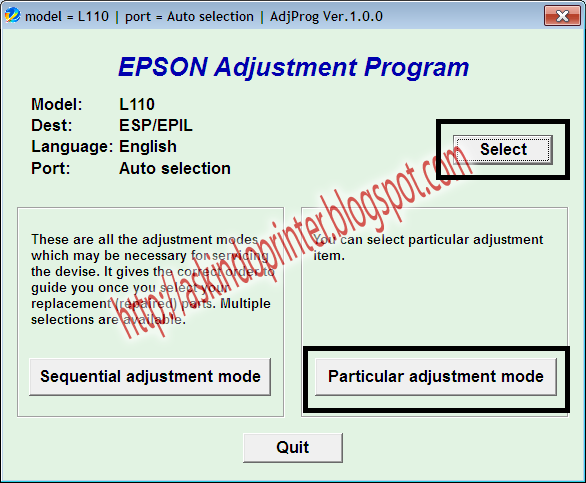 Solution Ink Pad Is At The end Of its Service Life Epson L110,L210