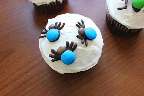 Chocolate M&M Ticks Cupcake Deocrating Inspiration