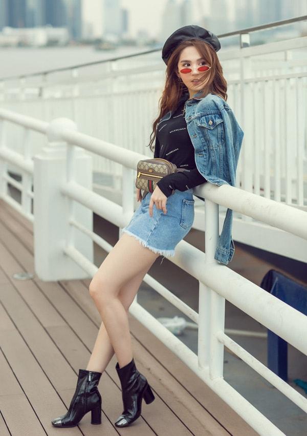 Ngọc Trinh diện quần short, váy ngắn hàng hiệu dạo phố Sài Gòn -6