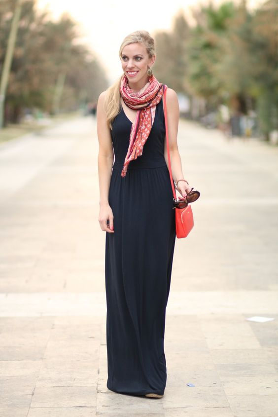 How to wear summer maxi dresses in winter