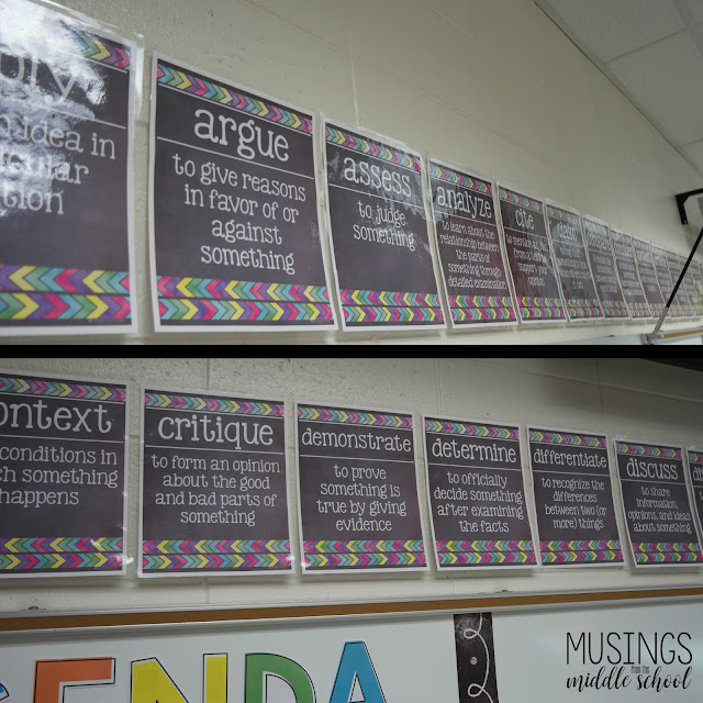Pictures of Academic Vocabulary posters