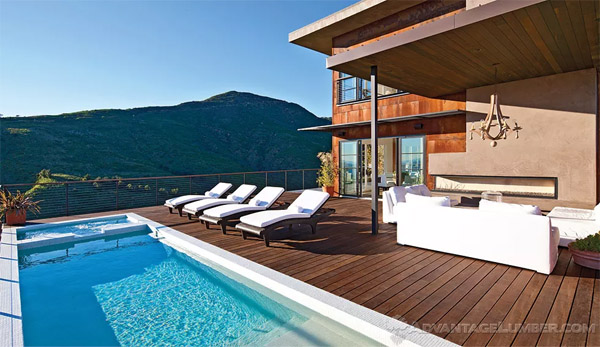 poolside Ipe decking