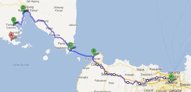Lokasi Pantai Teluk Kiluan Lampung