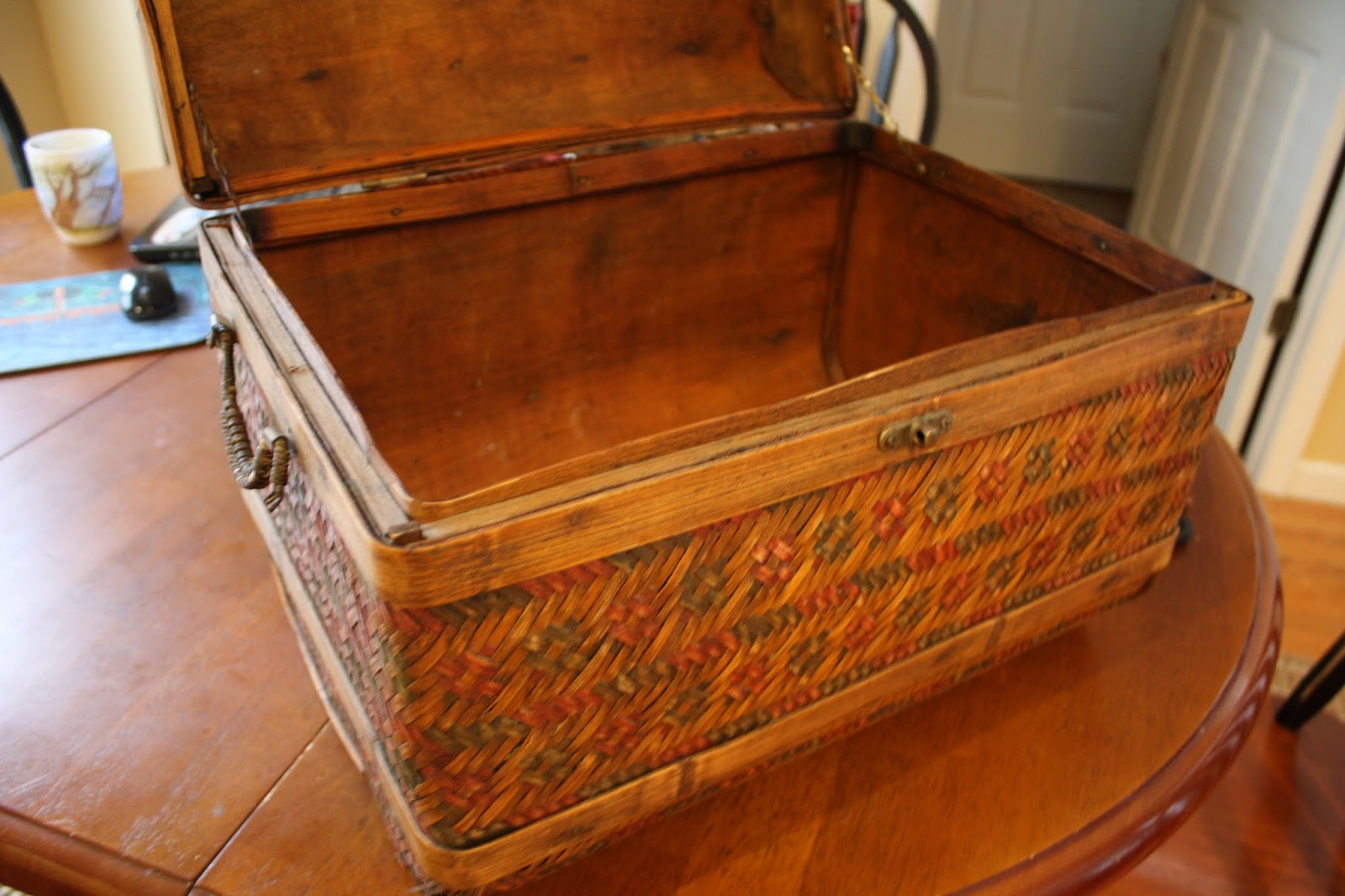 Decorative trunk makes great storage