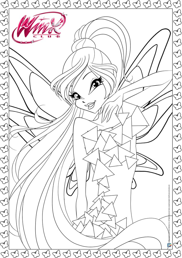 winx club tynix coloring pages - photo#1