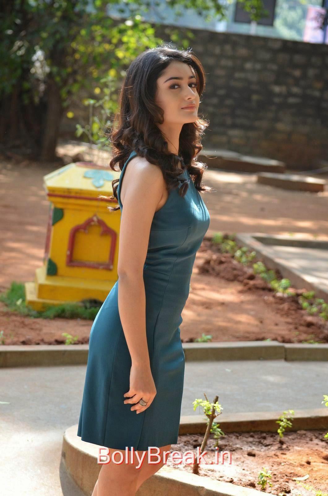 Telugu Actress Tridha Choudhury, Tridha Choudhury Hot Pics In Blue Dress