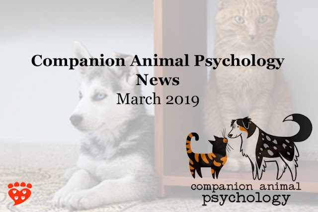 Companion Animal Psychology Newsletter March 2019
