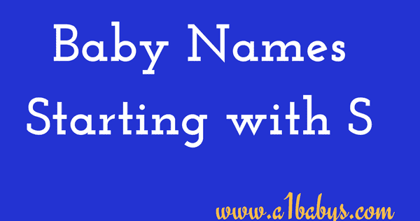 Baby Girl Names Starting With S Indian