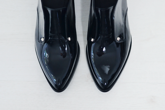 Turn it inside out: Patent shoes