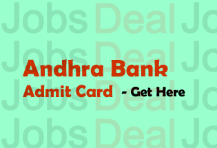 Andhra Bank Admit Card 2017