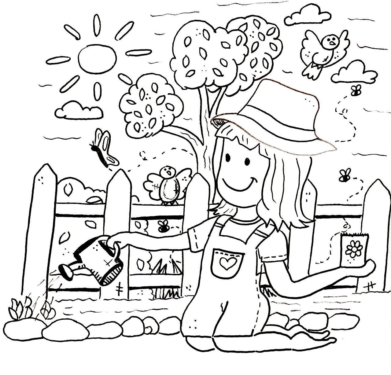Spring Garden Pages Coloring Pages