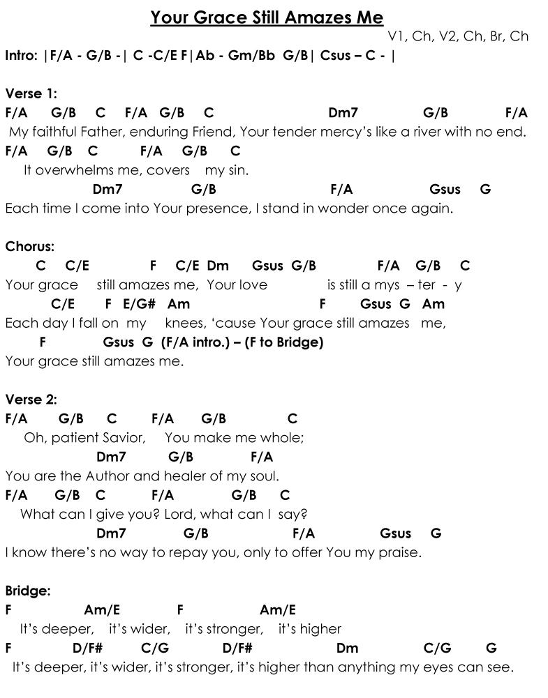 Lyric fall afresh on me lyrics : Enriched Affections: Sunday Singables: