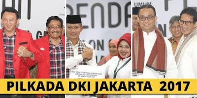 Pasangan calon Pilkada DKI 2017