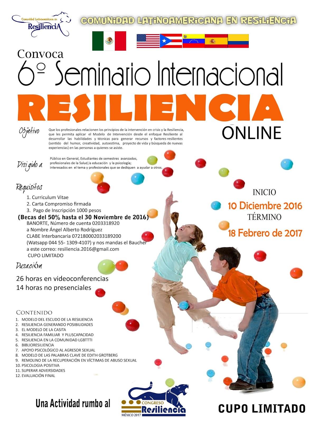 Comunidad Latinoamericana en Resiliencia: 2016