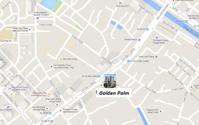 vị trí chung cư golden palm