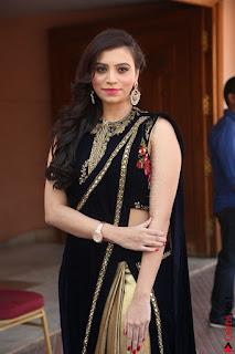Priyanka Ramana in Beautiful Designer Black Saree At We Craft Elegance Expo Launch 056.JPG