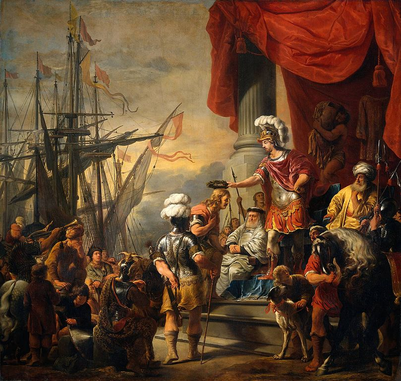 Aeneas at the court of Latinus