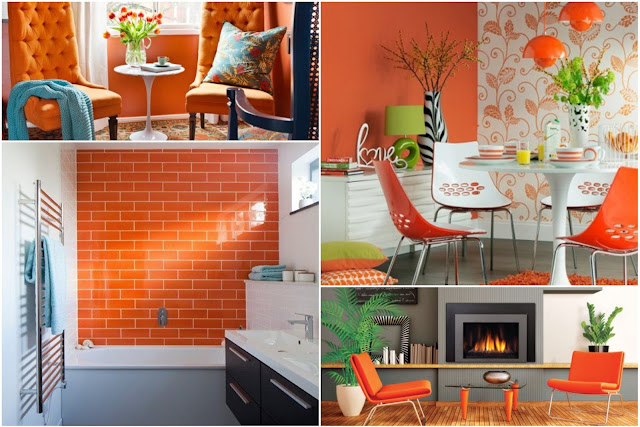 10 Daring Orange Color Interior Designs