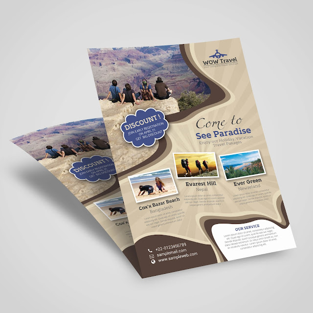 travel, advert, creative, agency, free, template, print, professional, modern, holiday, weekend,