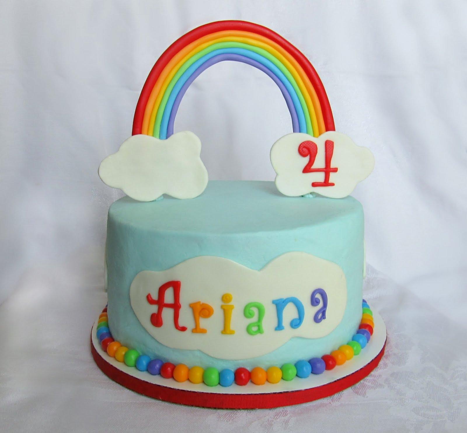 Love Amp Sugar Kisses Rainbow Cake