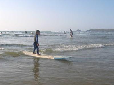 4yr old Cealan surfing