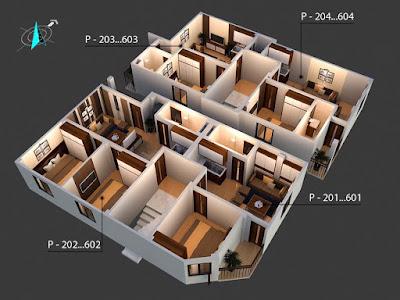 Mặt bằng tầng điển hình 2-6 chung cư Minh Đại Lộc 3