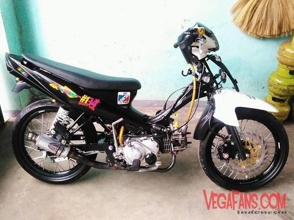 Modifikasi Vega ZR Road Race Putih Keren