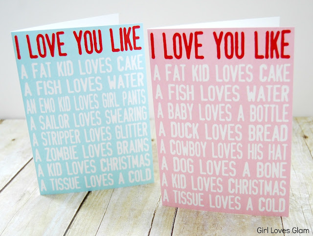 I Love You Like Printable Valentine Cards